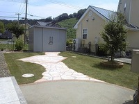 ガーデン工事完成!