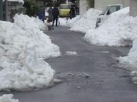 聖光学院の生徒さん達が雪かきを! 感謝です♪