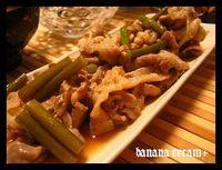 豚肉とニンニクの芽の塩炒め@晩御飯