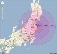 福島原発→富山の放射能の被爆影響
