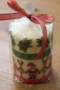 クリスマスデコパージュキャンドル作り
