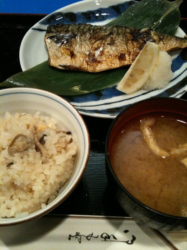 銀座の青山で焼き魚ランチを食べる