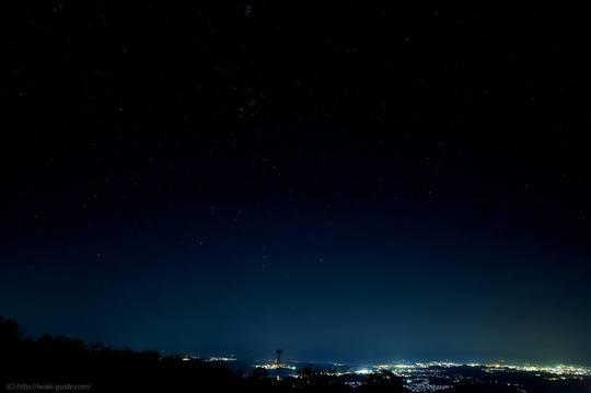 湯の岳からの夜景/いわきの夜景