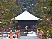 雪の白水阿弥陀堂とコラボしてみた。