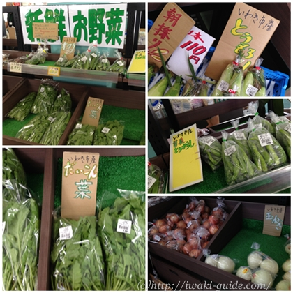 いわき野菜 道の駅よつくら港