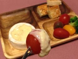 超簡単カマンベールチーズフォンデュレシピ トマトレシピ