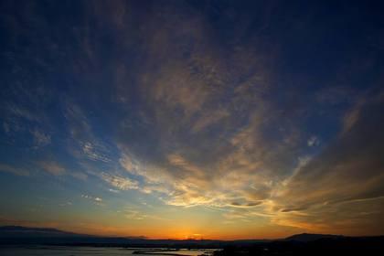 小名浜 三崎公園の夕焼け