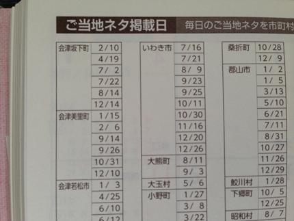 ふくしま手帳 福島ご当地ネタ