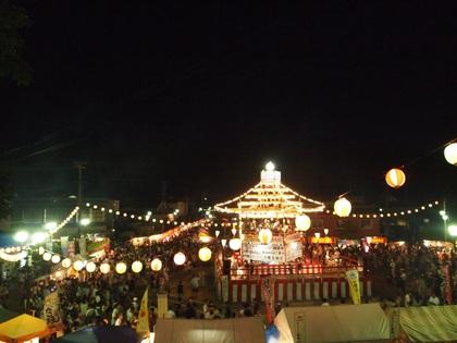 いわき内郷 盆踊り 夏祭り回転櫓