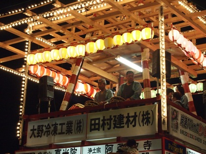 内郷夏祭り 回転櫓