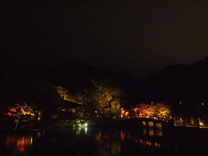 白水阿弥陀堂 紅葉ライトアップ2013