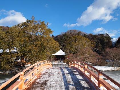 国宝白水阿弥陀堂の雪景色