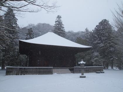 雪の白水阿弥陀堂