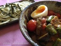 いわき青のり麺でカレーつけ麺
