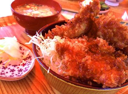 四倉 松喜食堂 屋台店のソースカツ丼
