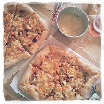 いちごピザ*自家製酵母ピザ
