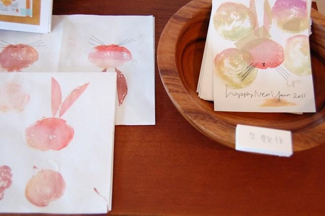 芋ハンコ年賀展示の写真4
