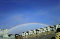 しばらく虹が出てた