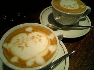 夕方のカフェラテ♥