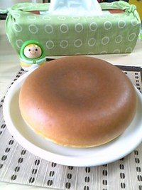 炊飯器でホットケーキ(生後22日目)