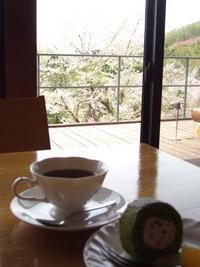 カフェにて花見