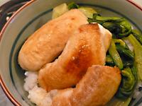 まかない飯レシピ/鮭の白子丼