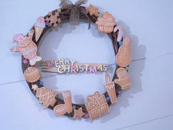 お絵かきクッキークリスマスリースのワークショップ