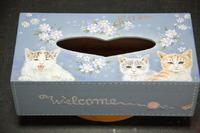 猫のティッシュBOXです