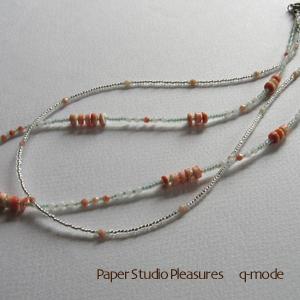 珊瑚の2連ネックレス