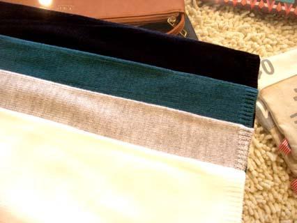 スエード風8枚はぎ配色切替フレアスカート