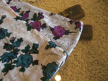 フード付花柄ドルマンカットソー