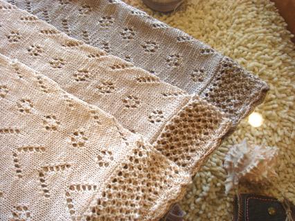 カギ編みスラブ引き揃えカーディガン