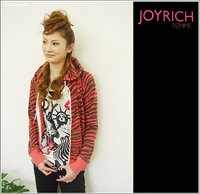 """JOY RICH""ゼブラパーカー"