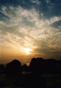 夕暮れ時の室戸岬
