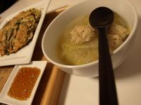 チヂミと鶏団子スープ