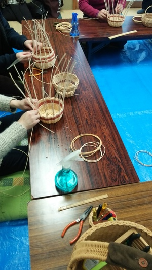 かご編み教室♪