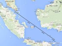 マレーシアの旅客機が消息を絶つ。