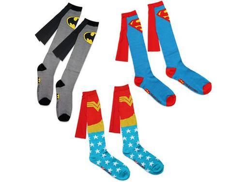 アメコミヒーローのマントがついた、ヒーロー靴下