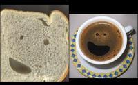 笑顔のパンとコーヒー